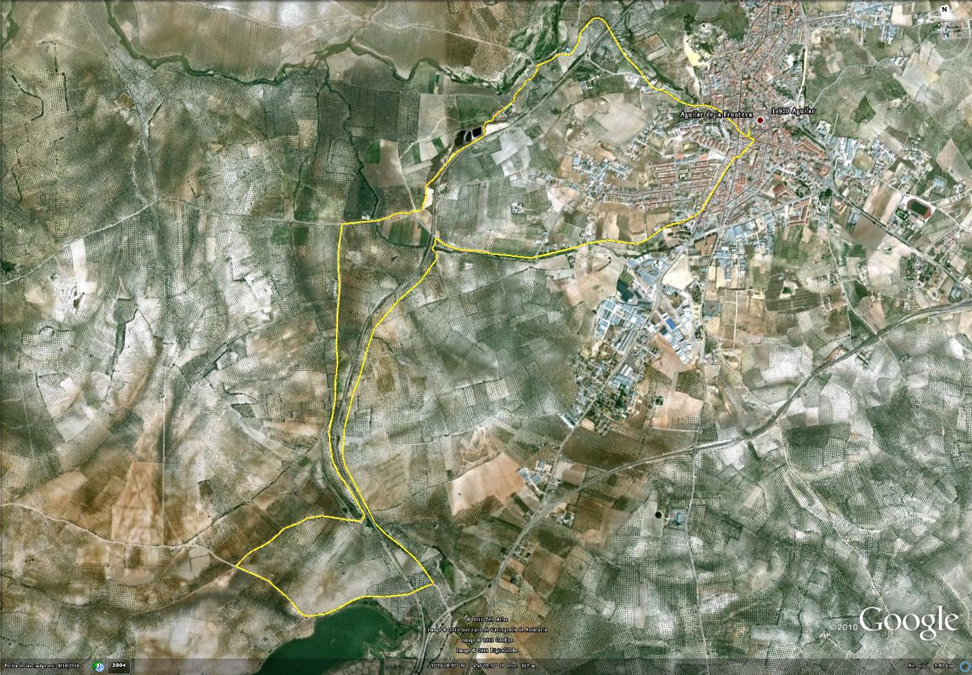 ruta nocturna 16 Sep 2011 13.400 m